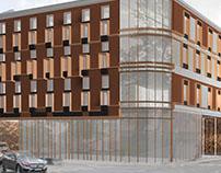 Quatre Modern Tenement in Łódź