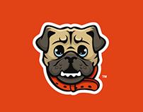 Pug Mascot Logo