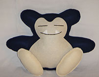 Handmade Pokemon Snorlax Medium v1.43 Plush Pillow