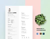Resume / CV Creative, Modern & Clean Resume