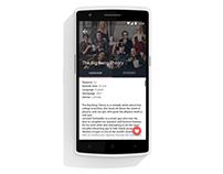 Series Calendar Mobile app