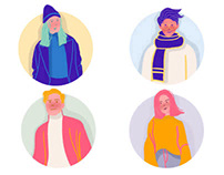 Flat Illustration - Cool Kids