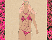 Wailea Collection textiles and fashion illustration