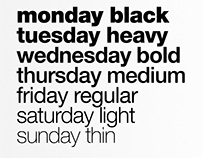 Weekly Helvetica