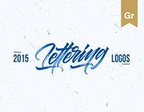 Lettering logos set 3