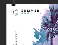 Summer is gone - Poster Artwork Template