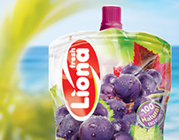Liona juice packaging design