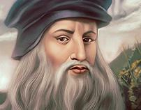 Leonardo Da Vinci Portrait Painting.