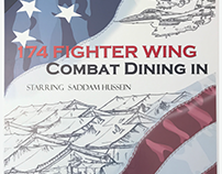 Military Combat Dining Out Ad/Poster