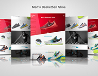 Responsive Landing Page For Basketball Shoe