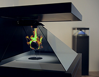 Holographic Fireball - in Dreamoc HD3 display