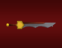 Sword (Low Poly + Hand Paint)