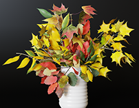 3d model autumn bouquet