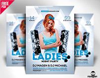 Ladies Night Flyer Free PSD