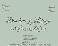 Convite de Casamento Dandara & Diogo