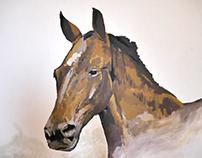 Mural painting - Tilo & wagon