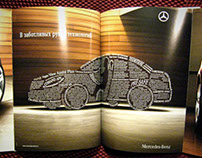 Lettering for Mercedes-Benz ad