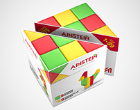 Ainstein toy packaging design and 3D rendering