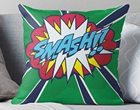 Pop Art style Throw Pillows