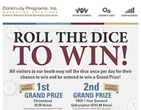 Dice Game for Continuity Programs Inc. Display Booth