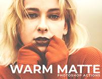 Free Warm Matte Photoshop Actions
