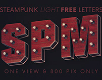 Steampunk Lights - Free 3D Lettering