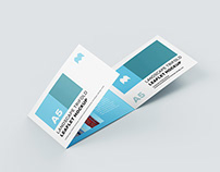Free trifold landscape leaflet mockup