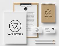 Van Royals Minimalist Logo Design Branding