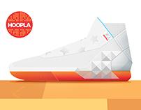 Hoopla sneaker design