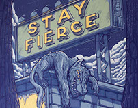 Stay Fierce Poster