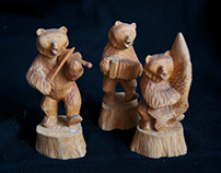 """Медведи""/ ""Bears"", Богородская резьба"