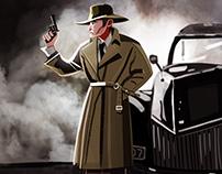 Noir- man of gun