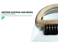 Nesting Dustpan and Brush