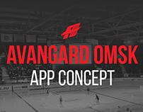 Avangard Omsk. Mobile app concept