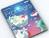 Boeing Frontiers Centennial Issue Cover Illustration