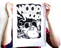 Serigraphie poster Woop Woop KRSONE