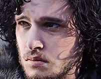 Jon Snow Painting Progress