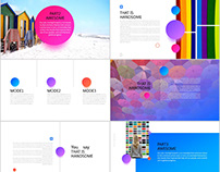 25+ Spherical color creative design PowerPoint template