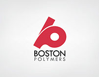 "Logo for a company called ""Boston Polymers"""