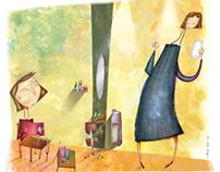 7'den 70'e magazine illustrations