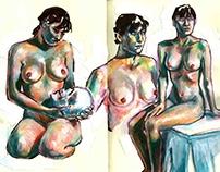 Nude Studies in Sketchbook