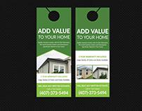 Roofing & Guttering services Door Hanger