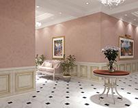 Interior design for third floor of private villa
