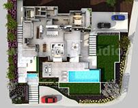 3D Floorplan of Modern House