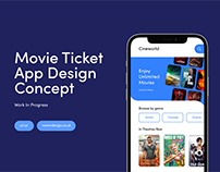 Movie Ticket App Concept - Work In Progress