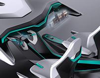 Škoda futuristic interior - internship project