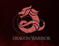 Dragon Warrior Logo with circular grid