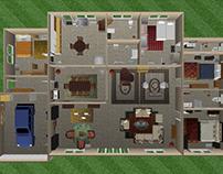Testing - SketchUp - interior design