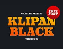 KLIPAN BLACK - 100% FREE FONT