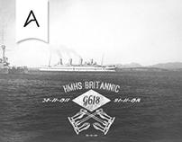 HMHS Britannic 98 Years - Type Art